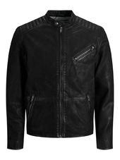 Jack & Jones Classique Veste En Cuir Men Black