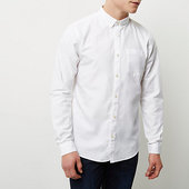 River Island Chemise Oxford Manches Longues Blanche
