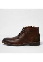River Island Bottines Chukka En Cuir Marron Foncé