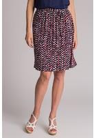 Jupe Imprimée Rouge Femme Taille 38 - Scottage