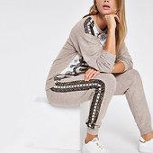 River Island Pantalon De Pyjama Impriméfoulard Beige