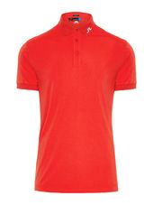 J.lindeberg Tour Tech Reg Tx Jersey Polo Shirt Men Red