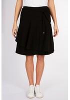 Jupe évasée Texturée Noir Femme Taille 40 - Scottage