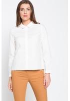 Chemise à Volants Blanc Femme Taille 4 - Scottage