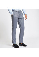 River Island Pantalon De Costume Bleu Clair Slim
