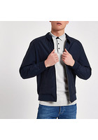 River Island Jack & Jones - Veste Harrington Bleu Marine